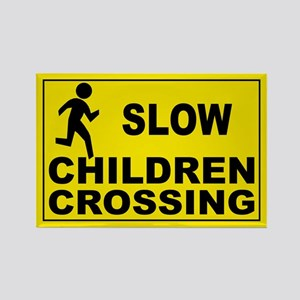 SLOW CHILDREN CROSSING Rectangle Magnet