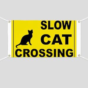 SLOW CAT CROSSING Banner