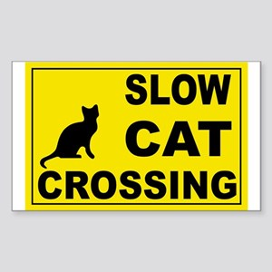 SLOW CAT CROSSING Rectangle Sticker