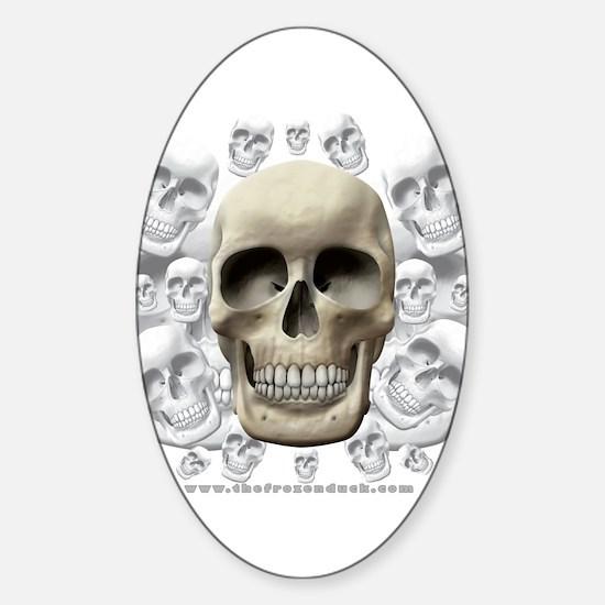 Skulls Oval Decal