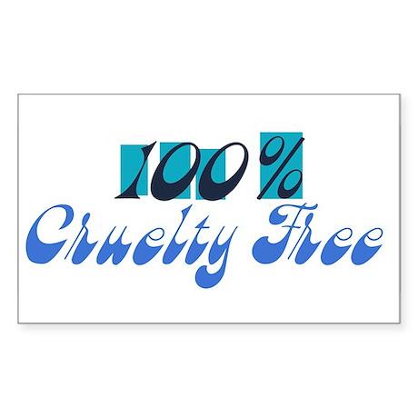 100% Cruelty Free Rectangle Sticker