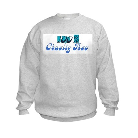 100% Cruelty Free Kids Sweatshirt