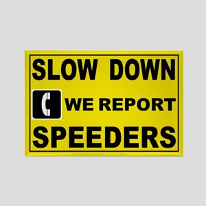 SLOW DOWN SIGN Rectangle Magnet