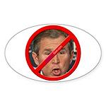 """No Bush"" Oval Sticker (10)"