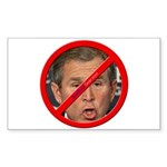 """No Bush"" Rect Sticker (50)"