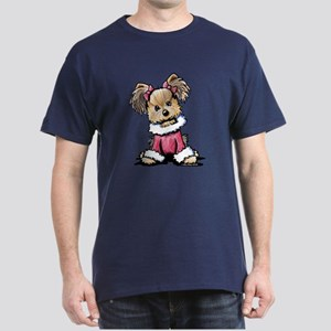 Christmas Yorkie Dark T-Shirt