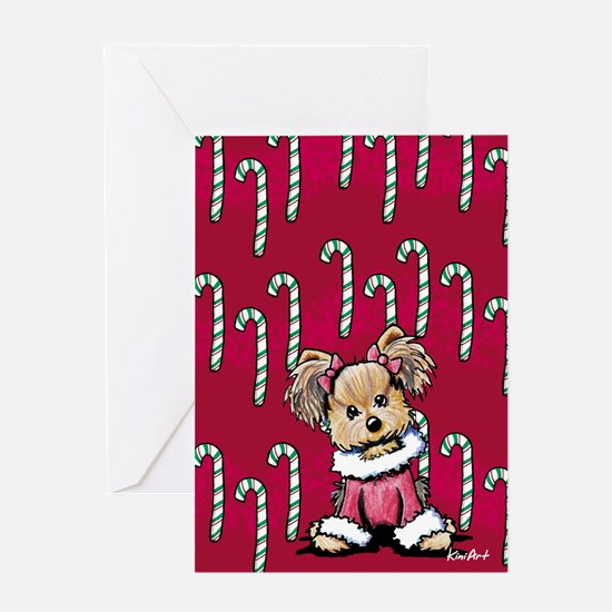 Christmas Yorkie Greeting Card