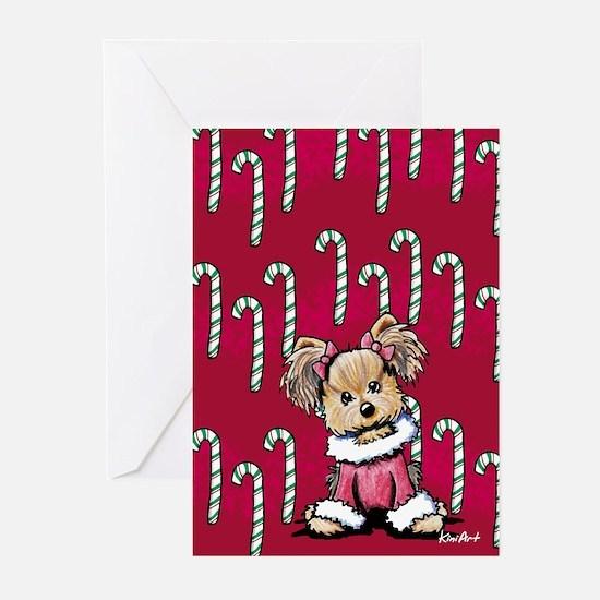 Christmas Yorkie Greeting Cards (Pk of 10)