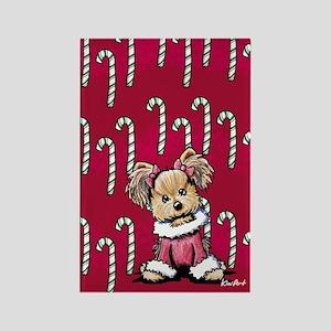 Christmas Yorkie Rectangle Magnet