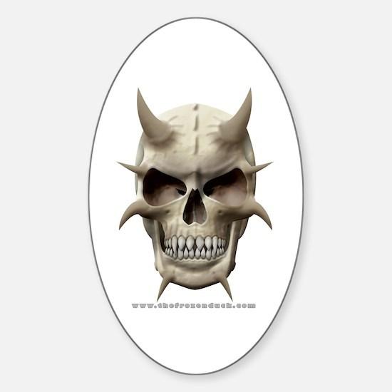 Demon Skull Oval Decal