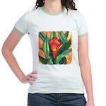 Red Calla Lily Watercolor Jr. Ringer T-Shirt