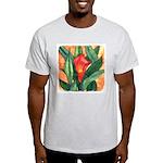 Red Calla Lily Watercolor Ash Grey T-Shirt
