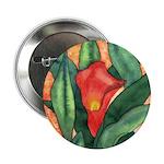 Red Calla Lily Watercolor Button