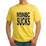 MSNBC Sucks Yellow T-Shirt