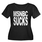MSNBC Sucks Women's Plus Size Scoop Neck Dark T-Sh