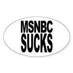 MSNBC Sucks Oval Sticker (10 pk)