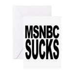 MSNBC Sucks Greeting Card