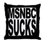 MSNBC Sucks Throw Pillow