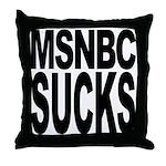 MSNBC Sucks Throw Pillow