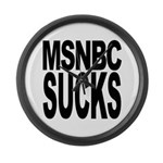 MSNBC Sucks Large Wall Clock