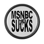 MSNBC Sucks Large Wall Clock