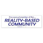 """Reality-Based"" Bumper Sticker (10)"