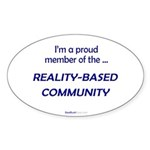 """Reality-Based"" Oval Sticker (10)"