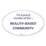 """Reality-Based"" Oval Sticker (50)"