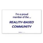 """""""Reality-Based"""" Rect Sticker (50)"""