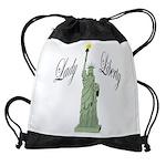 Statue of Liberty Lady Liberty Drawstring Bag