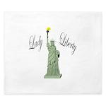 Statue of Liberty Lady Liberty King Duvet