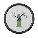 Statue of Liberty Lady Liberty Large Wall Clock