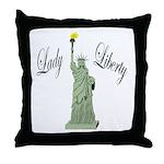 Statue of Liberty Lady Liberty Throw Pillow