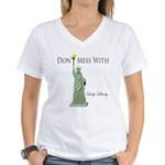 Statue of Liberty, Don't Me Women's V-Neck T-Shirt