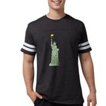 Statue of Liberty, Don't Mess Mens Football Shirt