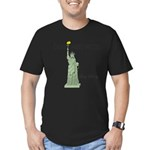 Statue of Liberty, Don Men's Fitted T-Shirt (dark)