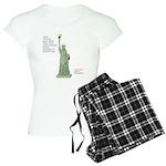 Statue of Liberty, No Terro Women's Light Pajamas