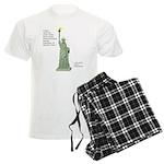 Statue of Liberty, No Terrori Men's Light Pajamas