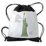 Statue of Liberty, No Terrorists Drawstring Bag