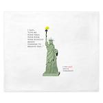 Statue of Liberty, No Terrorists King Duvet