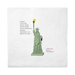 Statue of Liberty, No Terrorists Queen Duvet