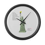 Statue of Liberty, No Terrorists Large Wall Clock