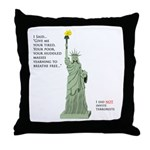 Statue of Liberty, No Terrorists Throw Pillow