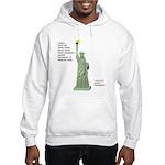 Statue of Liberty, No Terrorists Hooded Sweatshirt