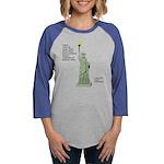 Statue of Liberty, No Terroris Womens Baseball Tee
