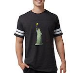Statue of Liberty, No Terroris Mens Football Shirt