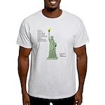 Statue of Liberty, No Terrorists Light T-Shirt