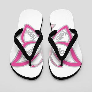 BREAST CANCER BUTTERFLY Flip Flops