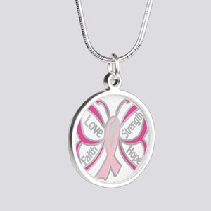 BREAST CANCER BUTTERFLY Necklaces