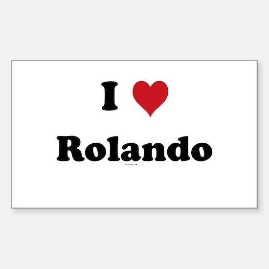 I love Rolando Rectangle Decal
